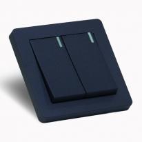 [우연티엔이] 유럽형스위치 K6K /1구 2회로 블루