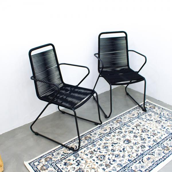 [핸즈홈] 센스틸 모던 로프 암체어(1P)(3939) 테라스 야외 카페 인테리어의자