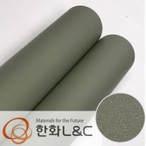 한화인테리어필름 - S201 <br> 카키그린 솔리드 단색 시트지 / 가구 · 싱크대 · 현관문