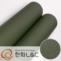 한화인테리어필름 - S202 <br> 올리브그린 솔리드 단색 시트지 / 가구 · 싱크대 · 현관문