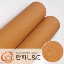 한화인테리어필름 - S203 <br> 오렌지 솔리드 단색 시트지 / 가구 · 싱크대 · 현관문