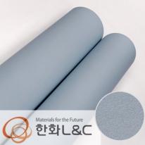 한화인테리어필름 - S195 <br> 블루그레이 솔리드 단색 시트지 / 가구 · 싱크대 · 현관문