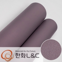 한화인테리어필름 - S206 <br> 바이올렛 보라색 솔리드 단색 시트지 / 가구 · 싱크대 · 현관문