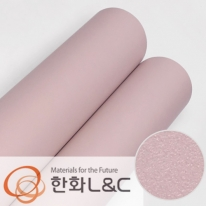 한화인테리어필름 - S207 <br> 핑크 분홍색 솔리드 단색 시트지 / 가구 · 싱크대 · 현관문