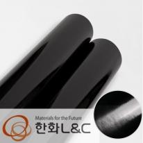 한화인테리어필름 - HS205  고광택 블랙 하이그로시 시트지 / 주방 · 싱크대 · 수납장