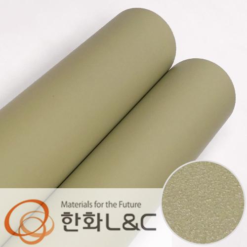 한화인테리어필름 - S200 <br> 올리브그린 솔리드 단색 시트지 / 가구 · 싱크대 · 현관문