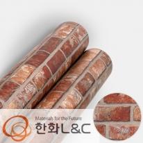 한화인테리어필름 - NS416  파벽돌 스톤 시트지 / 아트월 · 포인트 · 현관문