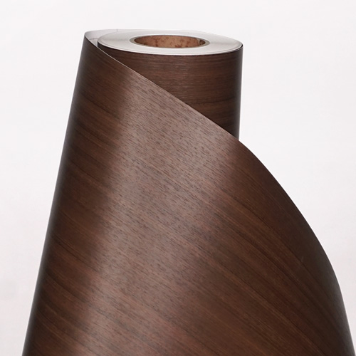 한화인테리어필름 - W830    스탠다드우드 월넛 무늬목 시트지 / 가구 · 테이블 · 방문