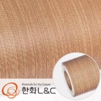 한화인테리어필름 - W818    스탠다드우드 애쉬 무늬목 시트지 / 가구 · 테이블 · 방문