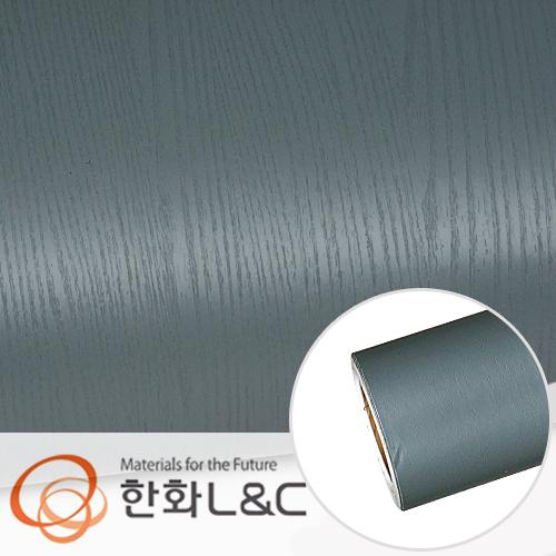 한화인테리어필름 - PTW05 <br> 블루그레이 페인티드우드 시트지 / 가구 · 싱크대 · 현관문