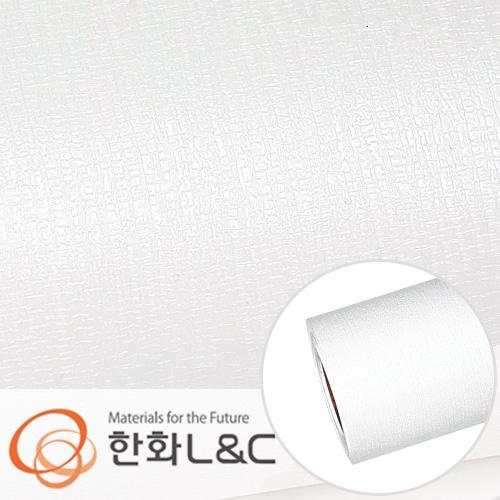 한화인테리어필름 - LS104  </br> 화이트 흰색 무늬목 시트지 / 가구 · 테이블 · 방문