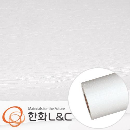 한화인테리어필름 - LS105  </br> 화이트 흰색 무늬목 시트지 / 가구 · 테이블 · 방문