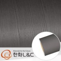 한화인테리어필름 - PTW04  그레이 블랙 페인티드우드 시트지 / 가구 · 싱크대 · 현관문