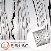 한화인테리어필름 - DW714   </br> 쿠앤크 블랙화이트 디자인우드 시트지 / 가구 · 싱크대 · 현관문