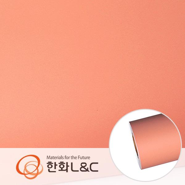 한화인테리어필름 - S213  피치색 솔리드 단색 시트지 / 가구 · 싱크대 · 현관문
