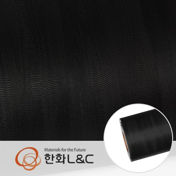 한화인테리어필름 - LS109   블랙 검은색 단색 물결무늬 시트지 / 가구 · 테이블 · 방문