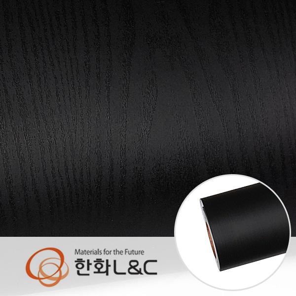 한화인테리어필름 - LS106   블랙 검은색 단색 무늬목 시트지 / 가구 · 테이블 · 방문