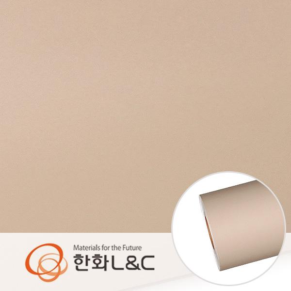 한화인테리어필름 - S215  베이지브라운 솔리드 단색 시트지 / 가구 · 싱크대 · 현관문