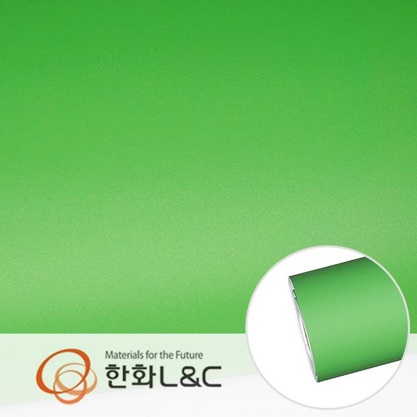 한화인테리어필름 - S170  그린 솔리드 단색 시트지 / 가구 · 싱크대 · 현관문