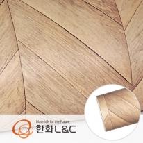 한화인테리어필름 - DW715  쉐브론 우드패널 디자인우드 시트지 / 가구 · 싱크대 · 현관문