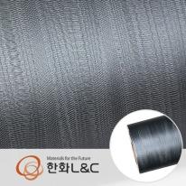 한화인테리어필름 - LM204  블루그레이 유광 무늬목 시트지 / 가구 · 주방 · 포인트