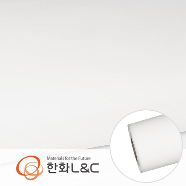 한화인테리어필름 - S176  화이트계열 솔리드 백색 단색 시트지 / 가구 · 싱크대 · 현관문