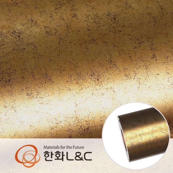 한화인테리어필름 - APZ05  골드 추상패턴 시트지 / 포인트 · 아트월 · 가구