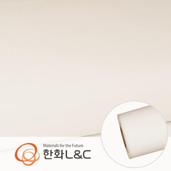 한화인테리어필름 - S208  화이트계열 솔리드 백색 단색 시트지 / 가구 · 싱크대 · 현관문