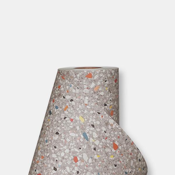 한화인테리어필름 - NS709  테라조 조각 시트지 / 가구 · 아트월 · 포인트