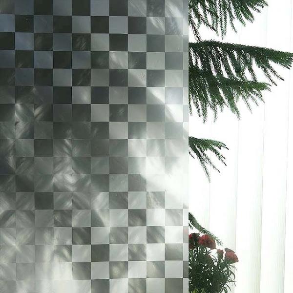 유리 안개 무점착 창문시트지 체스 T-004