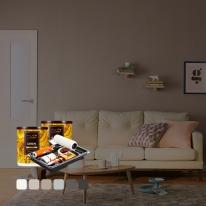 [홈앤톤즈][Best Color White&Gray] 벽지페인트 세트(롤러세트 전용)[작은방 (7평)2벽 12 ㎡]