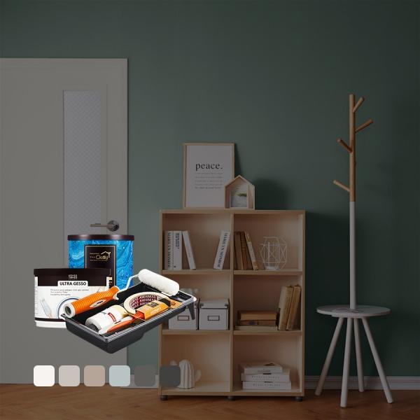 [홈앤톤즈][Best Color White&Gray]방문페인팅 세트[방문1개용(문틀포함)]