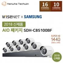 [한화테크윈]400만화소 16채널 간편설치 CCTV세트 SDH-C85100BF