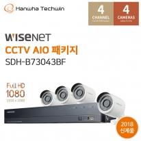 한화테크윈 간편설치 4채널 올인원CCTV세트 SDH-B73043BF