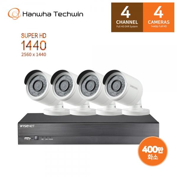 한화테크윈 400만화소 4채널 4캠 CCTV 세트 SDH-C0404