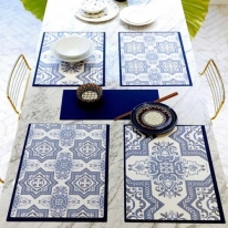 친환경 방수식탁매트 스페니쉬블루