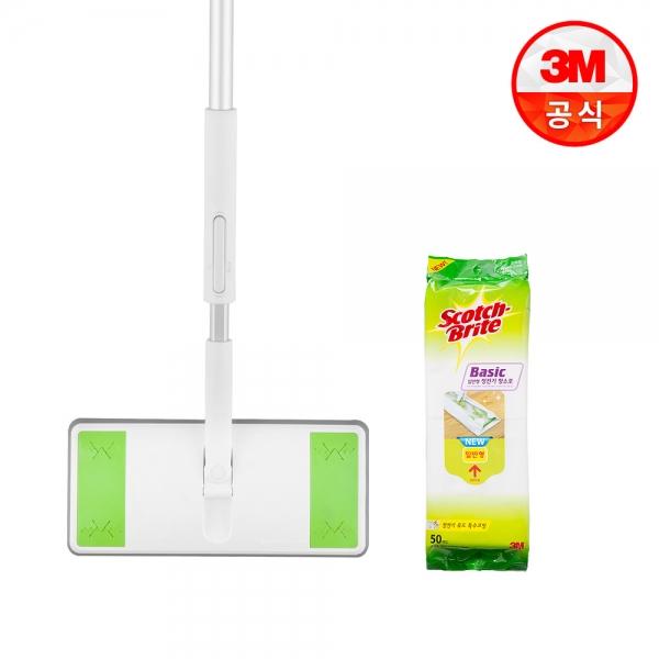 올터치 막대걸레+베이직 정전기 청소포 표준형 50매