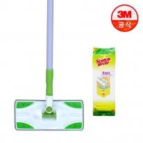 베이직 막대걸레+베이직 정전기 청소포 표준형 50매