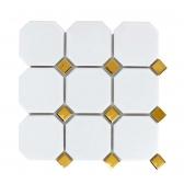 [모자이크타일]300x300 화이트(골드) / 1박스(11장)