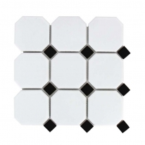 [모자이크타일]300x300 화이트(블랙) / 1박스(11장)