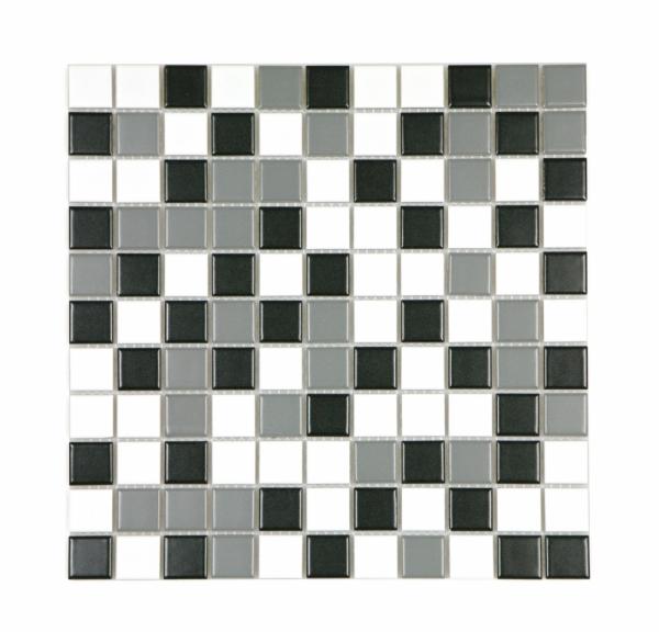 [모자이크타일] 정사각형 스카이블루/코발트블루/핑크/그린/그레이 믹스 무광 G25-MIX-M