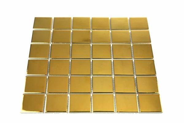[모자이크타일] 정사각형 타일 골드 유광 G48-GOLD