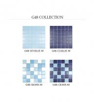 [모자이크타일] 정사각형 타일 스카이블루/코발트블루/믹스 무광 G48-M