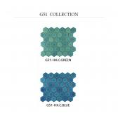 [모자이크타일] 육각 헥사곤 타일 코발트그린/코발트블루 유광 G51-HX