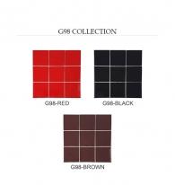 [모자이크타일] 정사각형 타일 브라운/레드/블랙 유광 G98 / 1박스(11장)