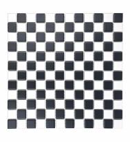 [모자이크타일] 정사각형 타일 체스 화이트블랙 무광 믹스 G25-CH.WB-M / 1박스(9장)