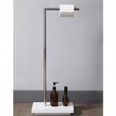 [행거] 일로나 욕실 아크릴 스탠딩 헹거 이동식 옷걸이 휴지걸이 화장실 선반 (310x180x800) HSL-C37
