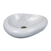 [세면기] 탑볼 라운딩 스톤 욕실 돌 세면대 (550x350x120) 400M