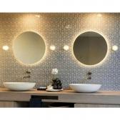 [거울] LED 라운드 원형 조명 벽걸이 거울 화장실 화장대 (700X700) 전구색 SP-700A/주광색 SP-700B