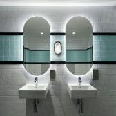 [거울] 노벨 LED 라운드 조명 벽걸이 거울 화장실 화장대 5286 (520X860) 전구색/주광색